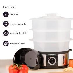 Geepas - 3 Tier Food Steamer